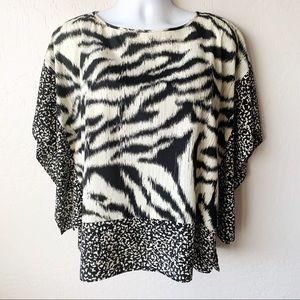 MICHAEL Michael Kors Tops - MK Zebra Print Kimono Sleeve Blouse